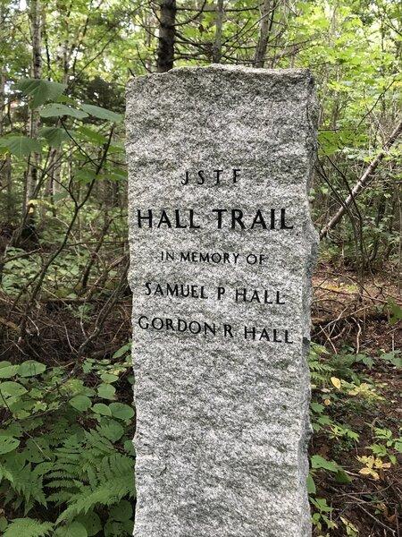 Hall Trail Memorial Marker