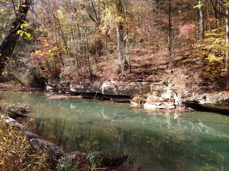 Limestone Rocks at the bend of Horse Creek on the Worley Bottom Trail