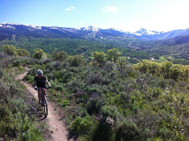 Rider on Viewline trail