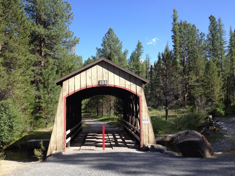 Covered bridge in Shevlin Park...just another beautiful trail feature.