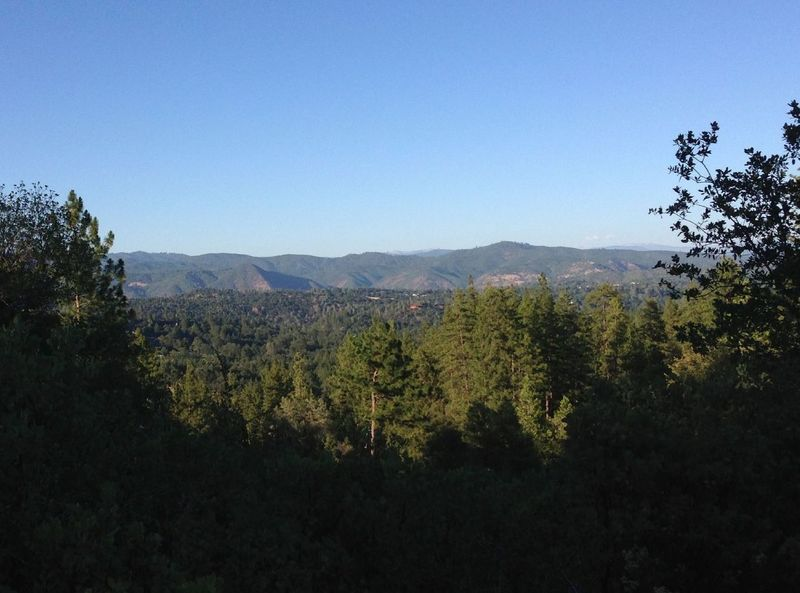 View of the Tuolumne Canyon from the Mary Laveronia Park Trail in Groveland CA.
