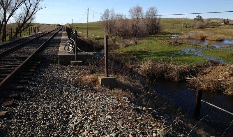 Furthest bridge crossing on the west end of the El Dorado Trail