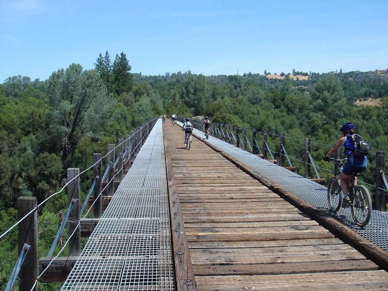 What the Weber Creek Bridge used to look like, prior to making it more bike/pedestrian friendly