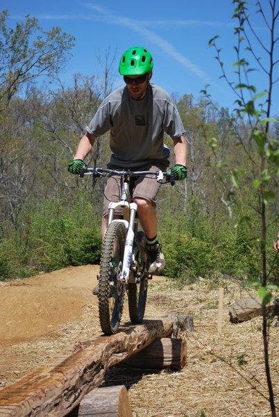 "Log ride in ""Jump Start"" skills area"