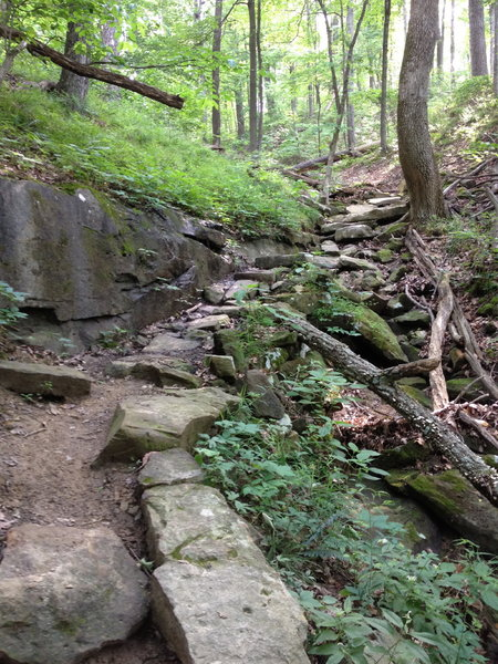 Another view of the rock staircase