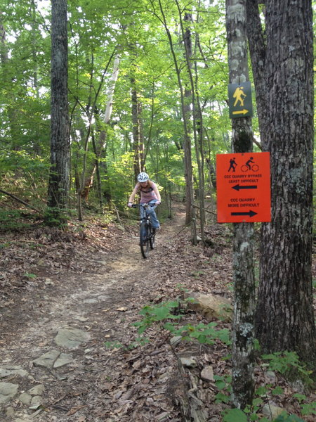 Shredding the CCC Quarry Trail!