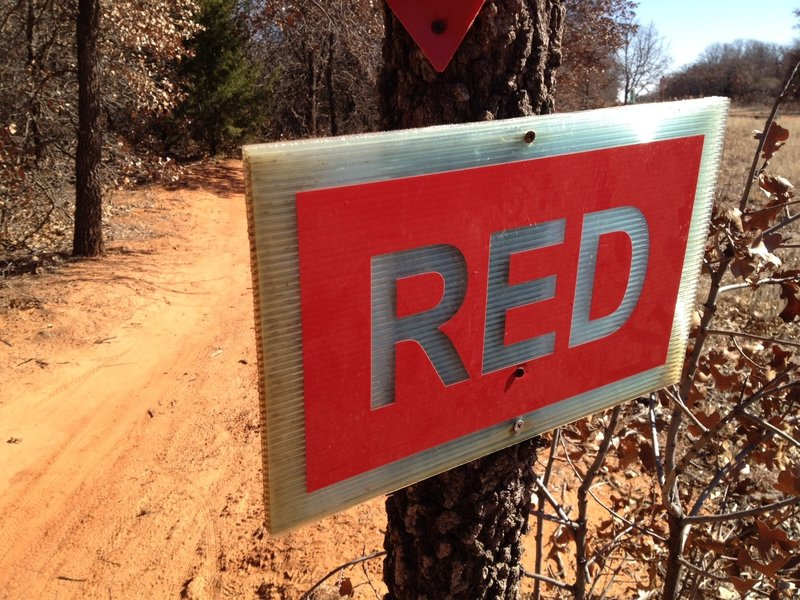 Red dirt on the Red trail