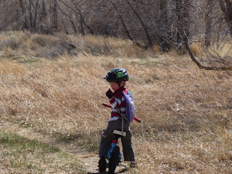This is a great area for kids to get into mountain biking. Flat buff trails and all the distractions a wild lake provide.
