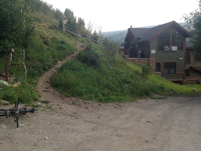 Where the trail meets Minturn.