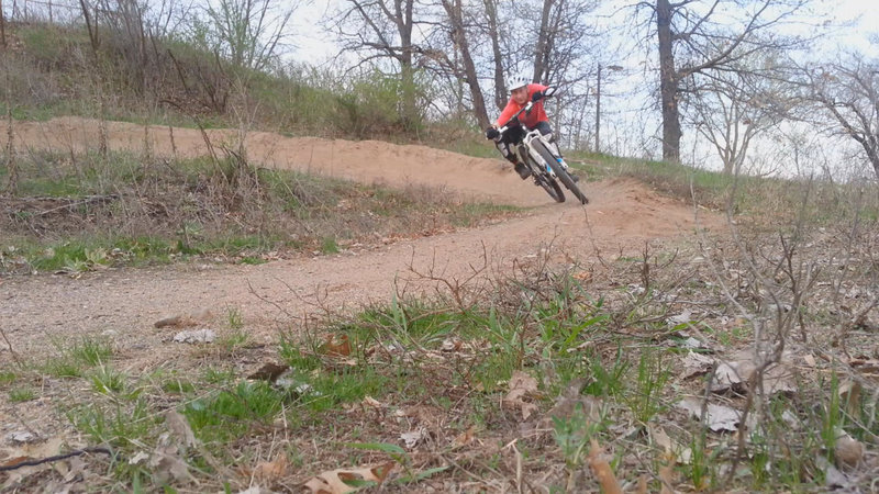 Middle berm, end of west loop, Carver Lake MTB trail