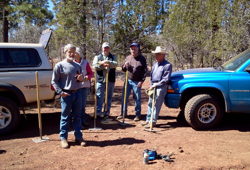 TRACKS trail crew, after working on Blue Ridge trail