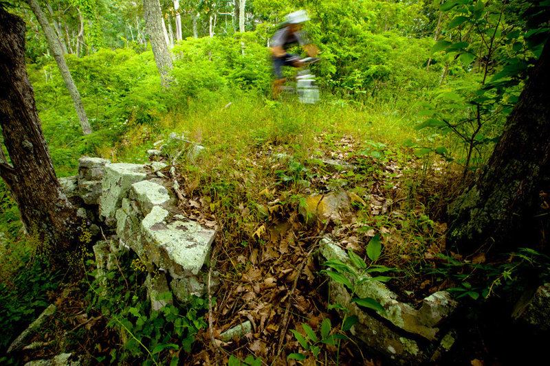 Although the Southern Traverse isn't rocky, you'll find a few stone walls along the way.