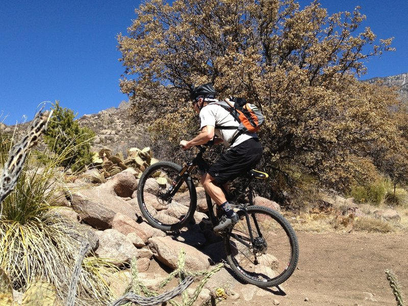 Starting up the rock ramp exiting to arroyo