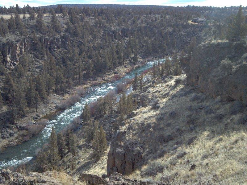 Deschutes River looking south.