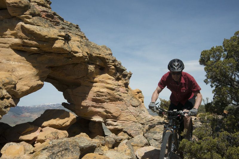 There is some dramatic terrain up here, but the techy riding is going to keep your eyes glued to the trail.