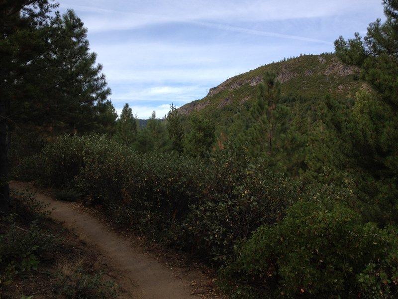 Smooth trail overlooking Tumalo Creek