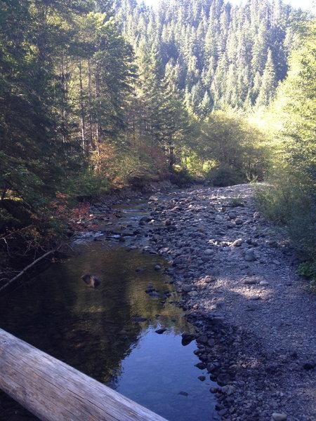 Bridge view, nearing the trail end