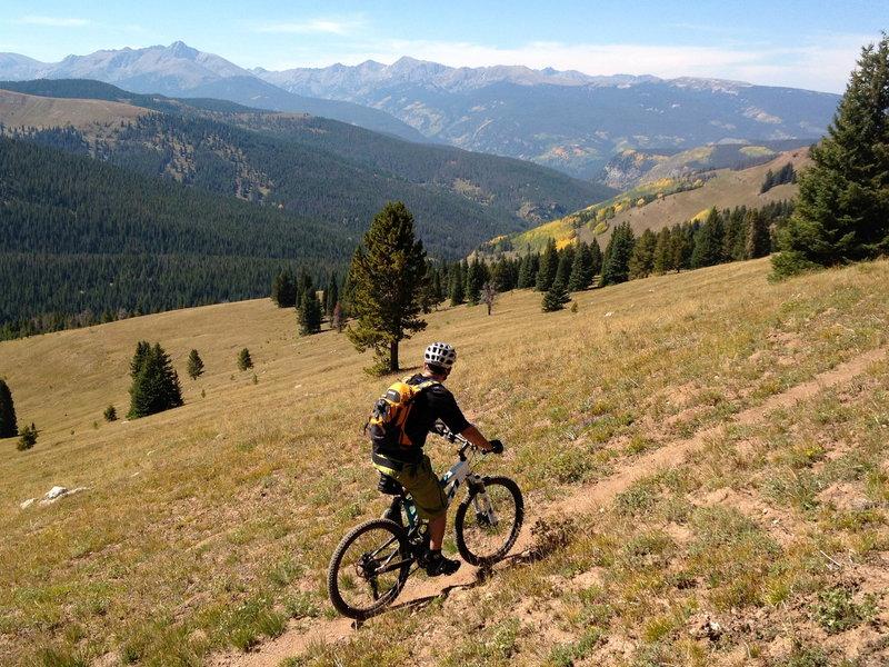Biking across the Mongolia Bowls - makes me want to ski!