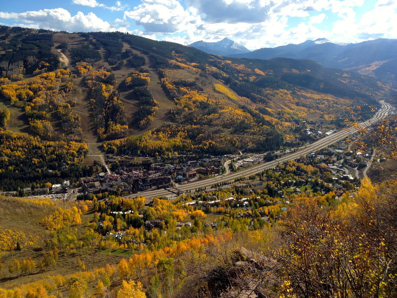 View of the Lionshead part of Vail