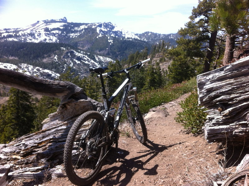 View of Castle Peak on the Donner Lake Rim Trail<br> Truckee, Ca.