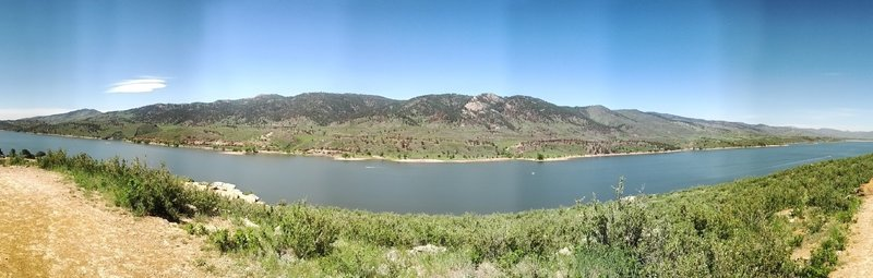 Panoramic of Horsetooth Reservoir from Rotary park.