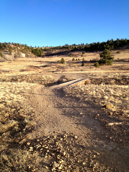 Heading out from the trailhead, the smooth wide trail awaits - much like most of the DIrty Bismarck surface.
