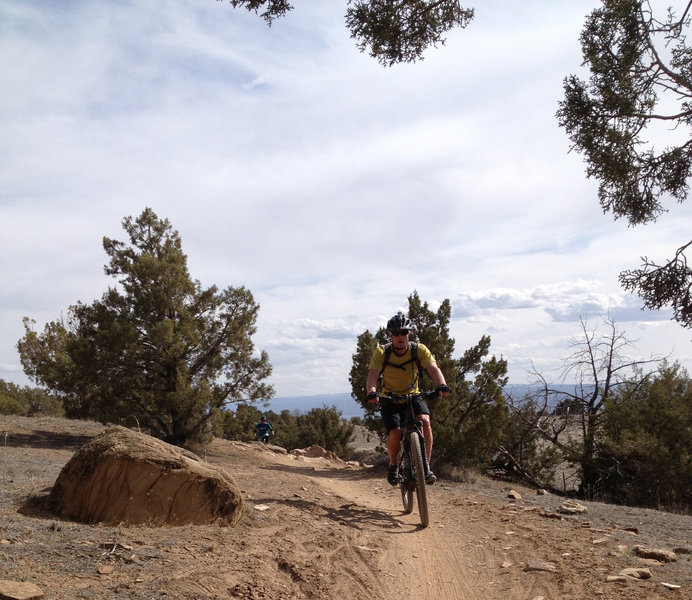 Climbing the relatively mellow Prime Cut trail.