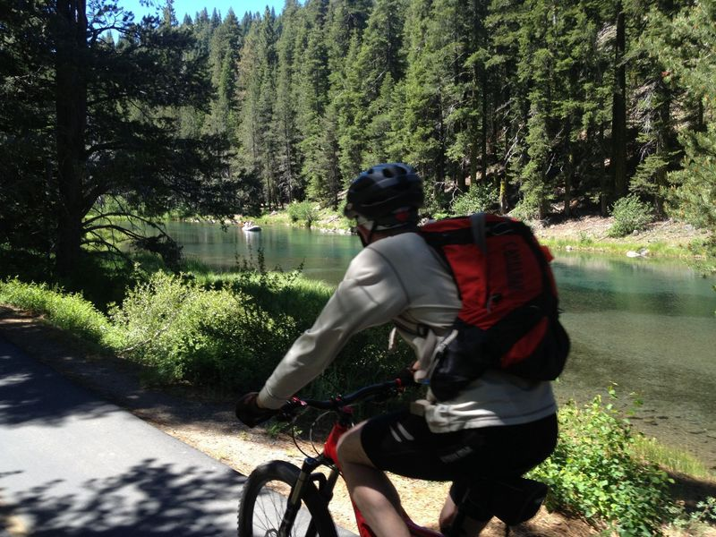 Along the Truckee River.