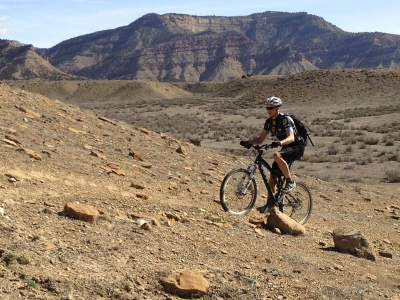 The one long-ish climb on the Edge Loop