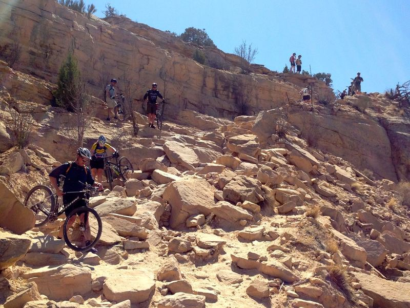The scene at the entrance to Horsethief Bench.  Once down on the bench, the riding is almost all intermediate.