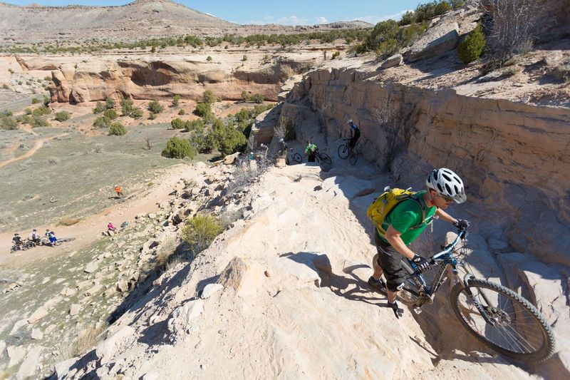 There's a high barrier to entry, but once down on Horsethief Bench, there's great intermediate riding.