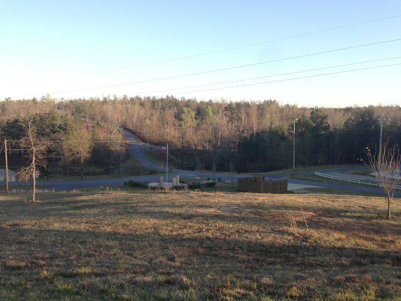 Overlooking the entrance road.