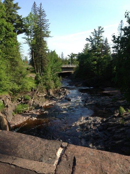 Lester River, near parking lot