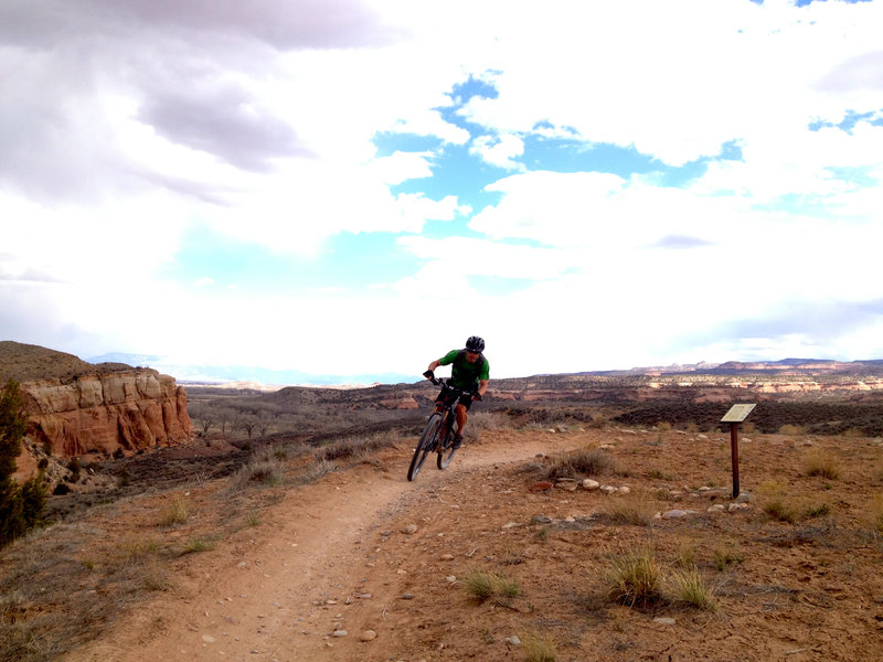 Smooth singletrack along the first section of Ruster's is great for working on corning skills.