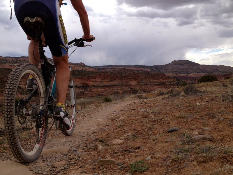 The sweet singletrack and incredible scenery combine to make Rustler's loop one of the best beginner trails we know of.