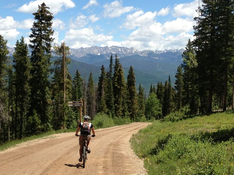 Cinch - nothing special to ride, but the scenery is good!