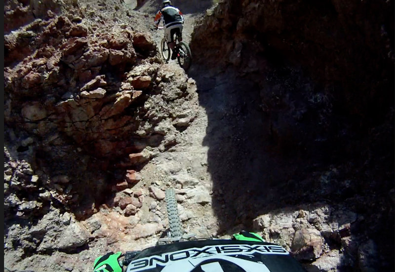 Bootleg Canyon.  Don't come if your scared!  The riding here is sick.  We started these trails in 93' hope you all enjoy.