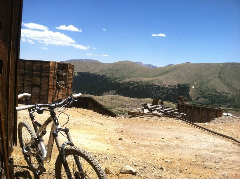 Top of the ride, enjoying the view at Waldorf Mine