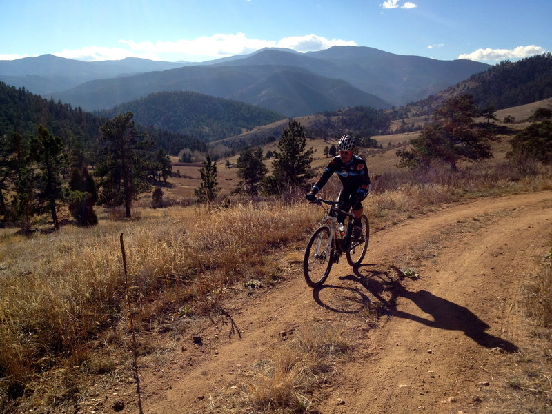 The dirt road section (Elk Range Trail) isn't an exciting trail, but it sure is scenic.