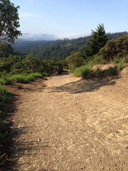 Most of the riding is manageable, but there are a few steep sections that most intermediate riders will have to walk.