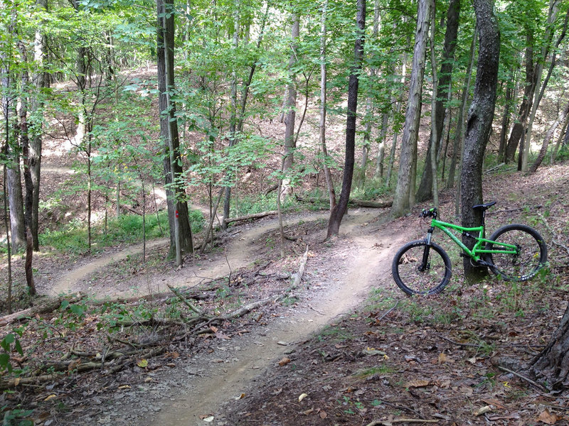 a nice example of some of the twisty singletrack you can look forward to.
