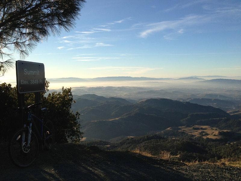 Mt Diablo Summit looking out West