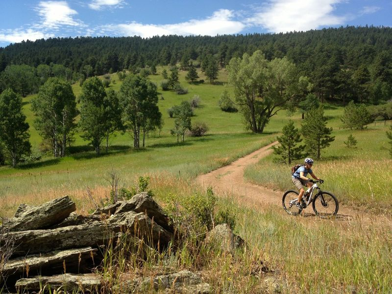 The start of Rawhide is easy doubletrack with great views.
