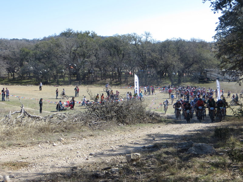 Start of one of the 2013 TMBRA races