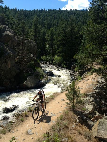 This ride can be hot, but it's always pleasant by the creek.