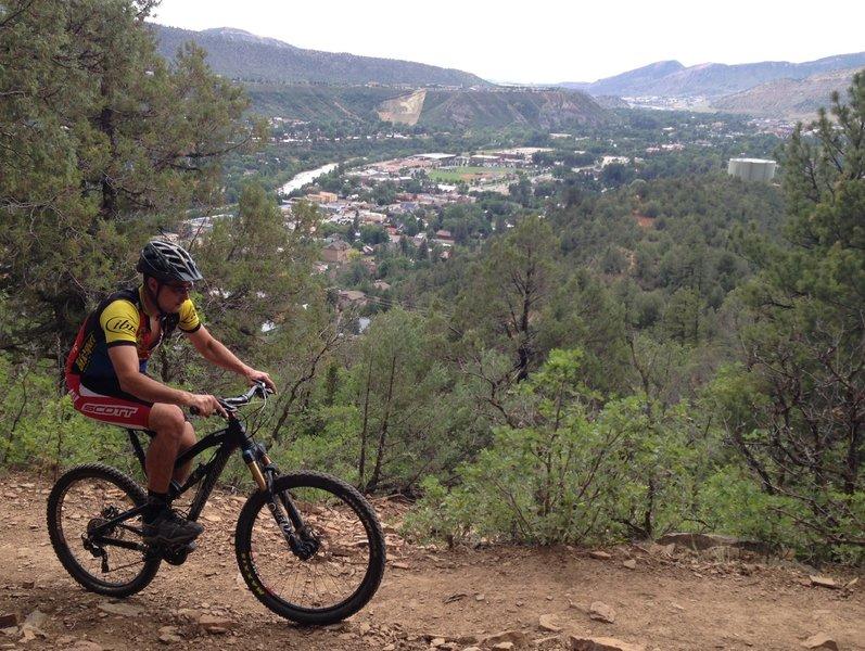 Climbing up from Durango
