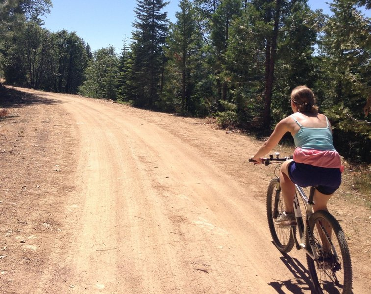 View of the ride on the way up to Pilots Peak on forest service dirt roads.