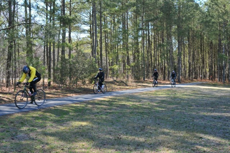 Four riders in an ESIMBA race.