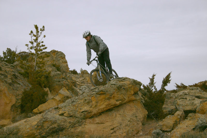 The connector to the upper trails has some fun stuff, including one of the best natural rock berms you'll ever find.