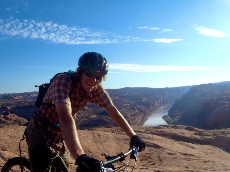 First time mountain biking.  All is good on Slickrock!